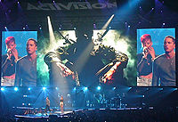 """Eminem and Rihanna performing """"Love the Way You Lie"""" at E3 2010"""