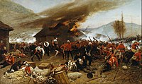 In the 1879 Battle of Rorke's Drift, a small British force repelled an attack by overwhelming Zulu forces; eleven Victoria Crosses were awarded for its defence.