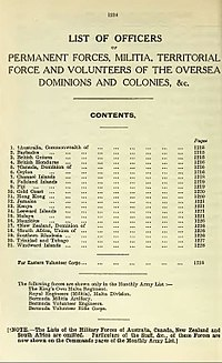 1939 Dominion and Colonial Regiments