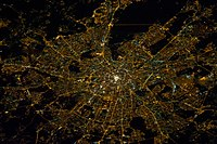 Moscow as viewed from the International Space Station, January 29, 2014