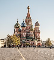 Saint Basil's Cathedral in Moscow, a masterpiece of Russian architecture