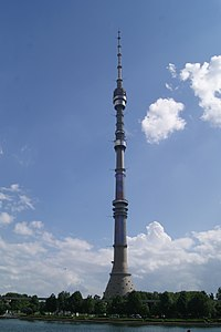 Ostankino Tower, the tallest freestanding structure in Europe, and the eighth-tallest in the world