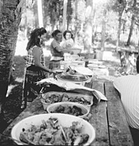 Seminoles having a Thanksgiving Meal in the mid-1950s