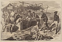 After Winslow Homer, Thanksgiving in Camp, published 1862, National Gallery of Art