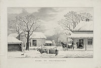 Home to Thanksgiving, lithograph by Currier and Ives (1867)