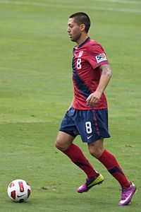 Clint Dempsey with the U.S. in 2011