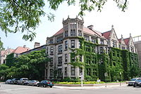 Snell-Hitchcock, an undergraduate dormitory constructed in the early 20th century, is part of the Main Quadrangles.