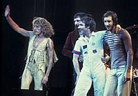 The Who on stage in 1975