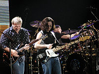 Rush on stage in Milan, Italy, 2004
