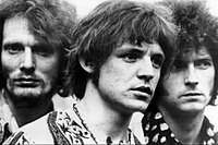 Baker, Bruce and Clapton of Cream, whose blues rock improvisation was a major factor in the development of the genre