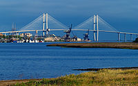 The Port of Brunswick and the Sidney Lanier Bridge