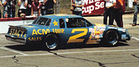 Driving for Jim Stacy in 1983.