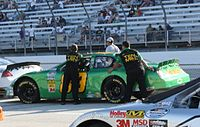 Shepherd's No. 89 pushed off after failing to qualify at Milwaukee in 2009