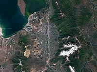Salt Lake County and surrounding area as seen from above