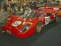 Ferrari 512S: Ickx drove the car during the 1970 24 Hours of Le Mans.