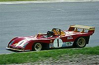 Ickx driving a Ferrari 312PB at the Nürburgring in 1973