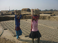 While adults are employed in slavery-like conditions abroad, hundreds of thousands of children in the country are employed as child labour (not including the agricultural sector).