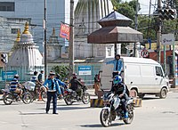 Traffic Police personnel manually direct traffic at the busiest roads and junctions.
