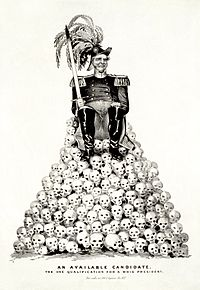 A political cartoon satirizing the candidacy of either Zachary Taylor or Winfield Scott in the 1848 presidential election