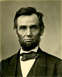 Abraham Lincoln, a former Whig congressman, won the 1860 presidential election on the Republican ticket.