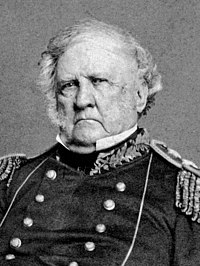 Gen. Winfield Scott, the unsuccessful Whig candidate in the 1852 presidential election