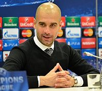 Guardiola during a press conference in 2015