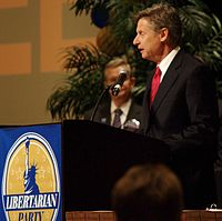 Former Governor Gary Johnson during the 2012 election