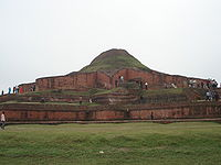Somapura Mahavihara is the largest Buddhist vihara in the Indian Subcontinent built by Dharmapala in Naogaon District, Bangladesh; it became a World Heritage Site in 1985.