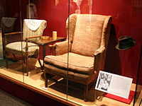 Archie and Edith Bunker's chairs on display in the Smithsonian National Museum of American History