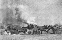 Soviet embassy in Nanjing is being burned down by arson on 1 January 1938.