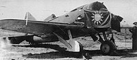 I-16 with Chinese insignia. I-16 was the main fighter plane used by the Chinese Air Force and Soviet volunteers.