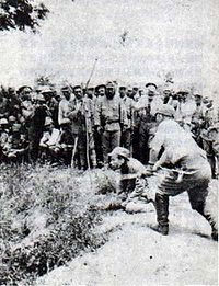 Japanese war crime against a Chinese POW