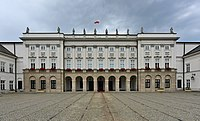 The Presidential Palace in Warsaw, Poland, where the Warsaw Pact was established and signed on 14 May 1955