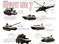 """A """"Soviet Big Seven"""" threats poster, displaying the equipment of the militaries of the Warsaw Pact"""
