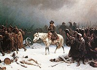 Napoleon's withdrawal from Russia, painting by Adolph Northen