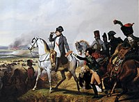 Napoleon at the Battle of Wagram, painted by Horace Vernet