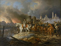 Napoleon watching the fire of Moscow in September 1812, by Adam Albrecht (1841)