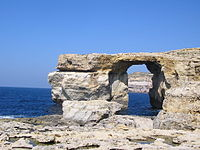 The Azure Window at Ras-id-Dwerja, on Gozo, was the site of the Dothraki wedding in season one.