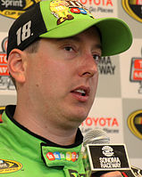Kyle Busch won the pole position, setting a new track record.
