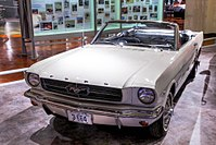 """""""1964½"""" Mustang convertible Serial#1, sold to Stanley Tucker who was given the one millionth Mustang in exchange for his historic car"""
