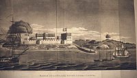 Bunce Island, 1805, during the period the slave factory was run by John and Alexander Anderson
