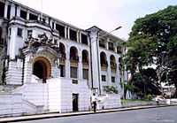 The Sierra Leone Supreme Court in the capital Freetown, the highest and most powerful court in the country