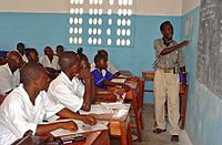 A secondary school class in Pendembu, Kailahun District