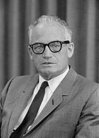 Arizona Senator and 1964 Republican presidential nominee Barry Goldwater was a key figure of the American conservative movement in the 1950s and 1960s
