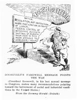 Theodore Roosevelt's 1908 Farewell speeches sought progressive laws that did not pass Congress