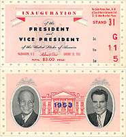 Dwight D. Eisenhower and Richard Nixon, 1953: the first Republican presidential inauguration in 24 years