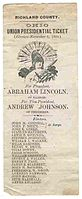 National Union ticket in 1864 as party men gave these to voters to deposit in the ballot box