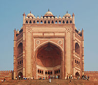 Buland Darwaza at Fatehpur Sikri was built by Akbar in 1575 to commemorate his victory over Gujarat