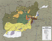 The areas where the different mujahideen forces operated in 1985