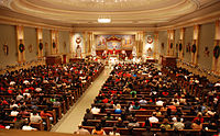 Many Christians attend church services to celebrate the birth of Jesus Christ.